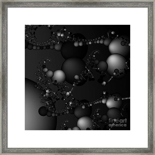 Abstract 119 Bw Framed Print