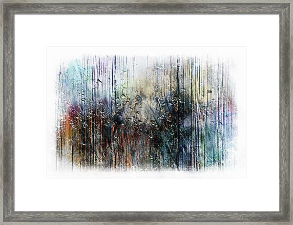 2f Abstract Expressionism Digital Painting Framed Print