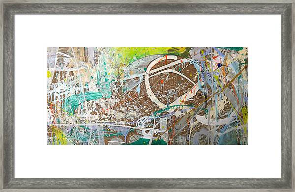 Abstract #41915 Or Waxing Gibbous Framed Print