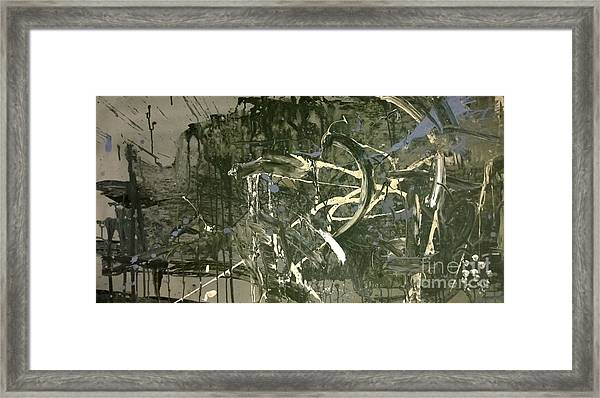 Abstract #42015 Or Lock Ness In Town Framed Print