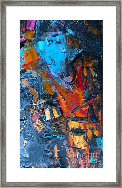 Abstract #42715b Framed Print