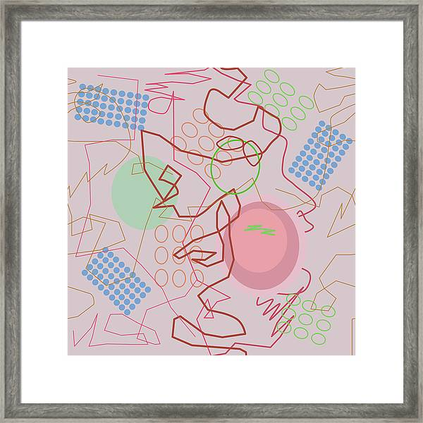 Abstract 8 Pink Framed Print