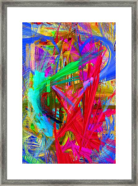 Abstract 9028 Framed Print