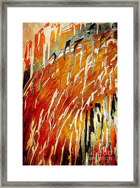 Framed Print featuring the painting Abstract A162916 by Mas Art Studio