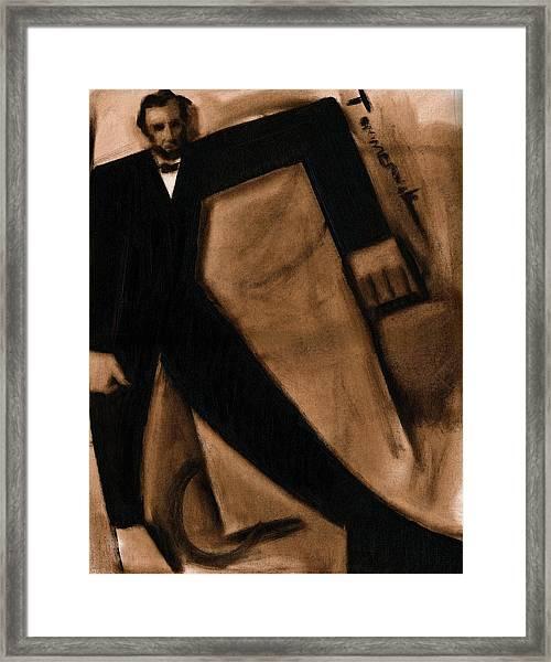 Tommervik Abstract Abraham Lincoln Art Print Framed Print