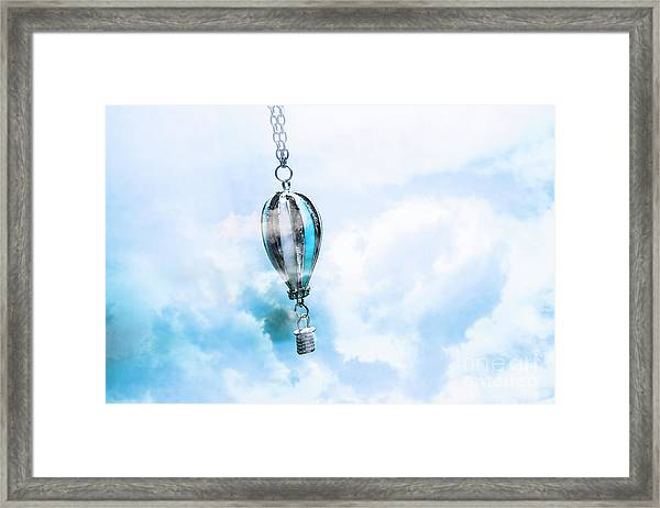 Abstract Air Baloon Hanging On Chain Framed Print