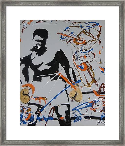 Abstract Ali Framed Print