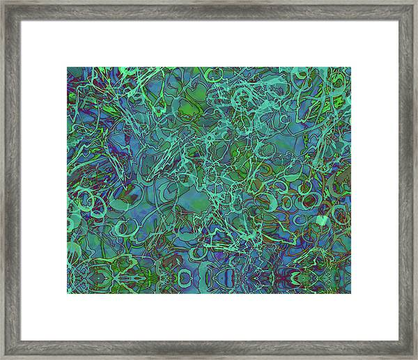 Abstract Azurite Framed Print