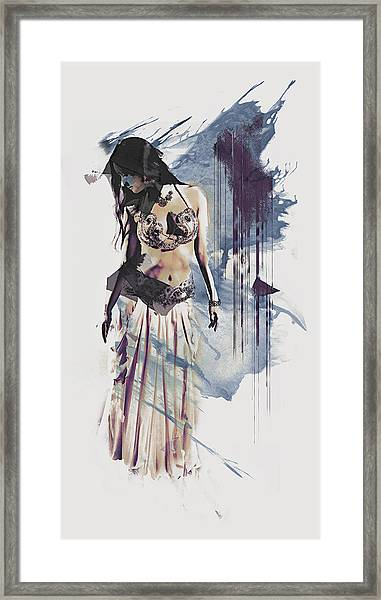 Abstract Bellydancer Framed Print
