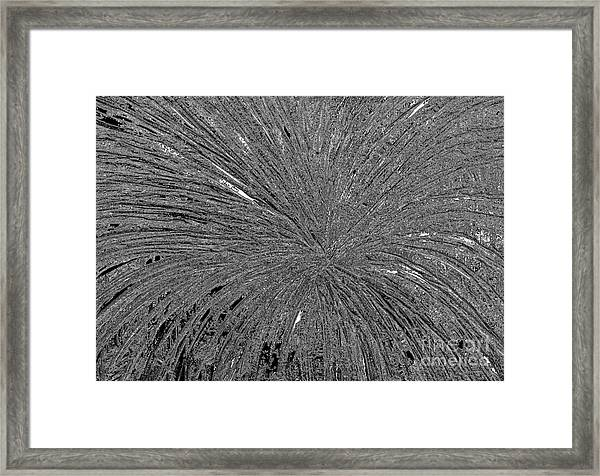 Framed Print featuring the painting Abstract Black And White A182516 by Mas Art Studio