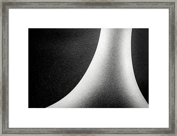 Abstract-black And White Framed Print