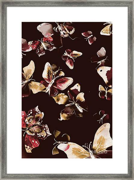 Abstract Butterfly Fine Art Framed Print