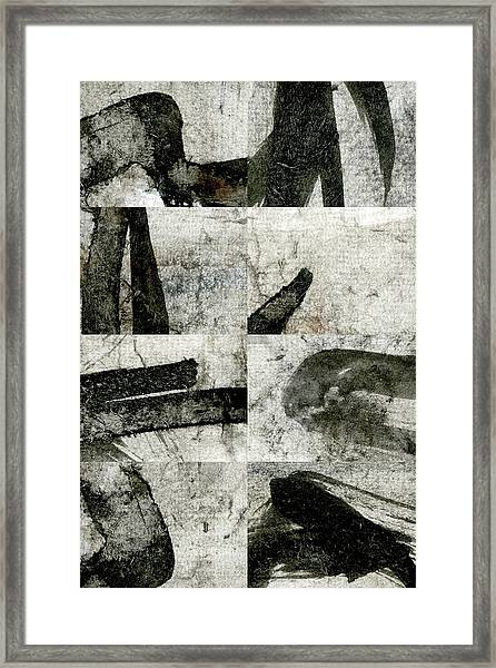 Abstract Calligraphy Collage 1 Framed Print