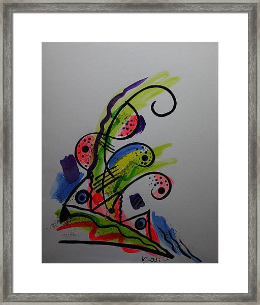 Abstract Card 1 Framed Print