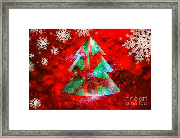 Abstract Christmas Bright Framed Print