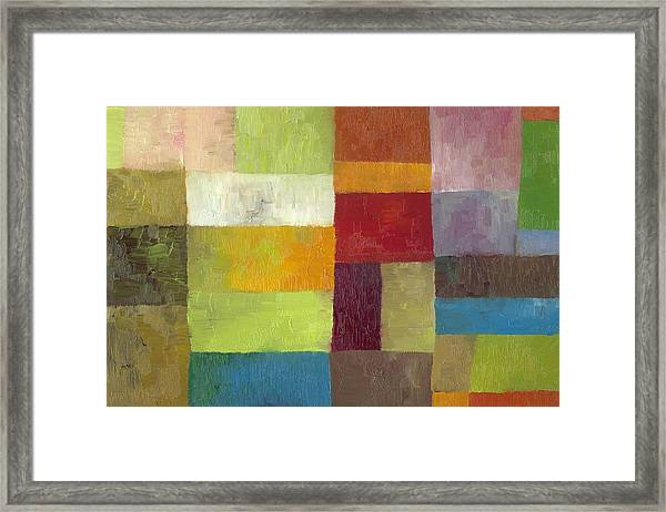 Abstract Color Study Lv Framed Print