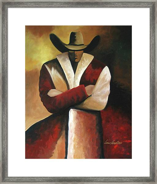 Abstract Cowboy Framed Print