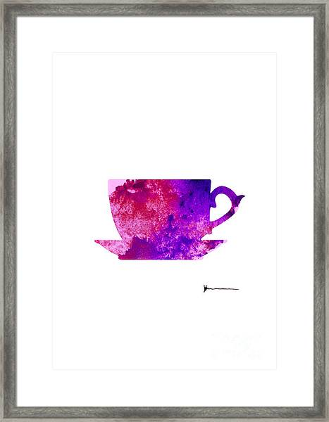 Abstract Cup Of Tea Silhouette Framed Print