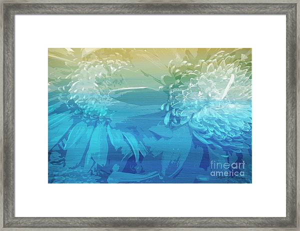 Framed Print featuring the painting Abstract Floral Dl212016 by Mas Art Studio