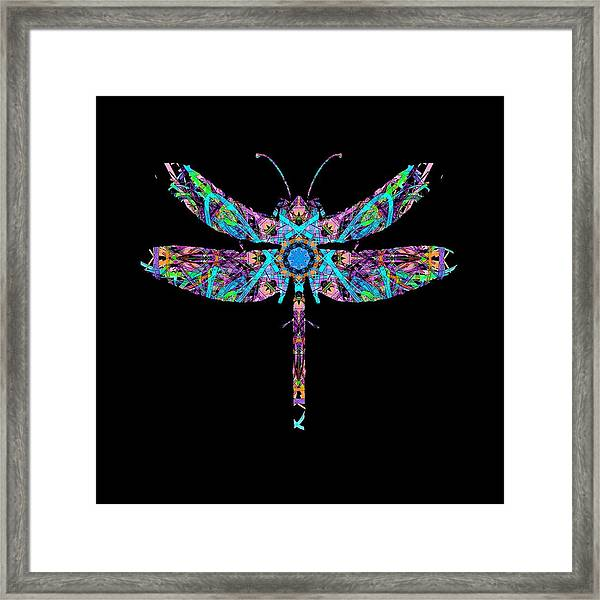 Abstract Dragonfly Framed Print