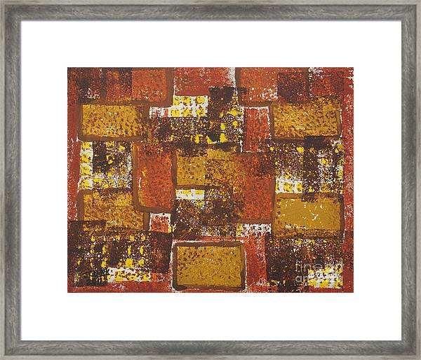 Abstract_ Fall  Framed Print