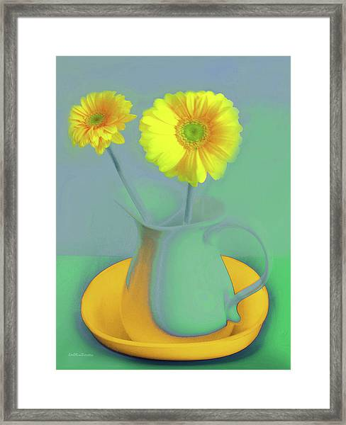 Abstract Floral Art 307 Framed Print
