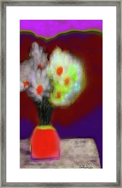 Abstract Floral Art 340 Framed Print