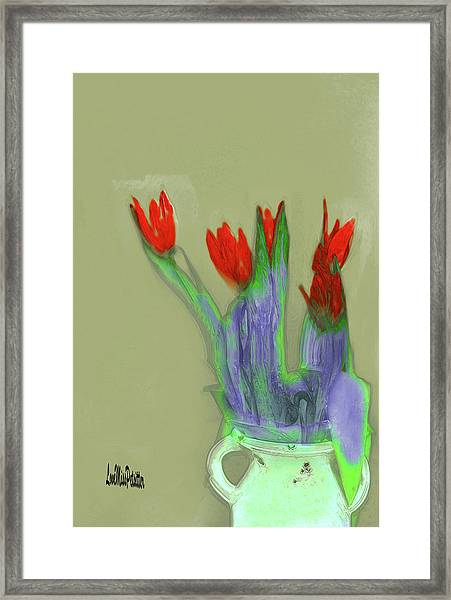 Abstract Floral Art 346 Framed Print