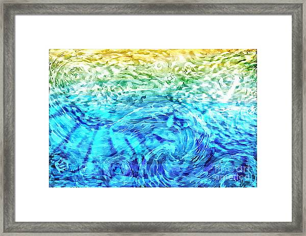 Framed Print featuring the painting Abstract Floral Dl312016 by Mas Art Studio