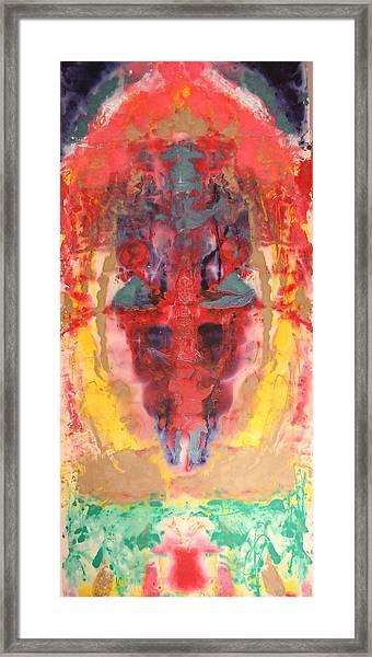 Abstract Ganesha Framed Print