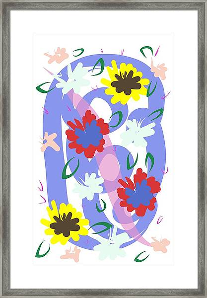 Abstract Garden #1 Framed Print