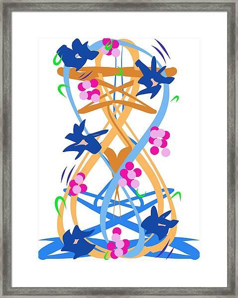 Abstract Garden #3 Framed Print
