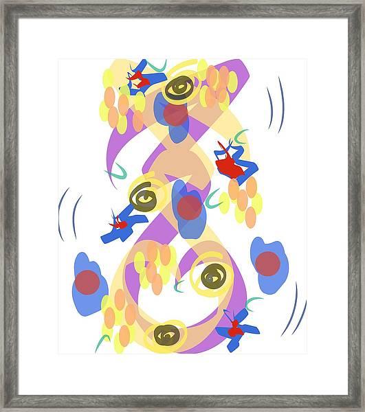 Abstract Garden #5 Framed Print