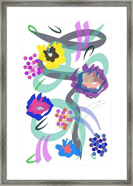 Abstract Garden Nr 4 Framed Print