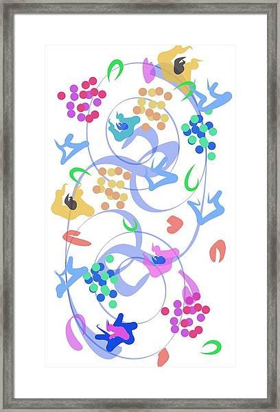 Abstract Garden Nr 6 Framed Print