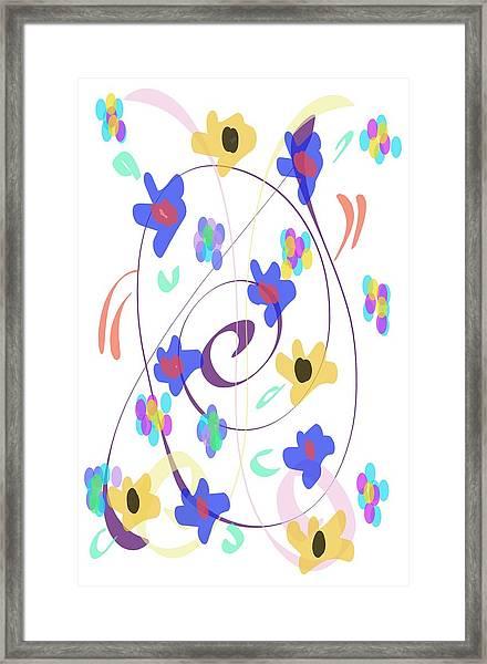Abstract Garden Nr 7 Naif Style Framed Print