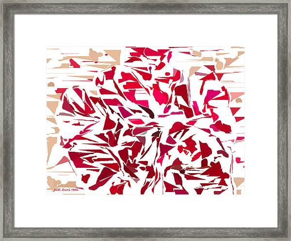 Abstract Geranium Framed Print