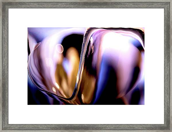 Abstract Glass Framed Print
