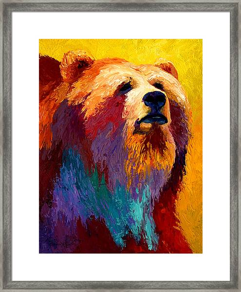 Abstract Grizz Framed Print