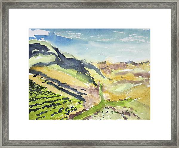 Abstract Hillside Framed Print