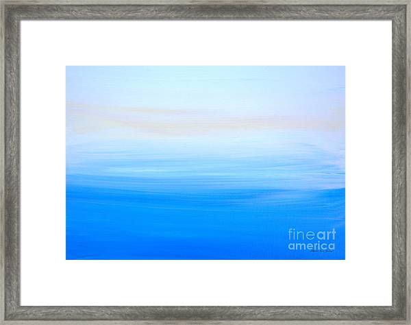 Framed Print featuring the painting Abstract Hl312016 by Mas Art Studio