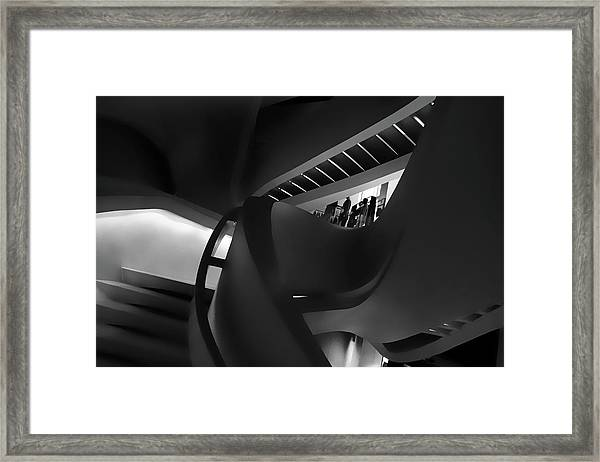 Abstract In Black Framed Print