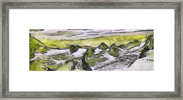 Abstract In Green Framed Print