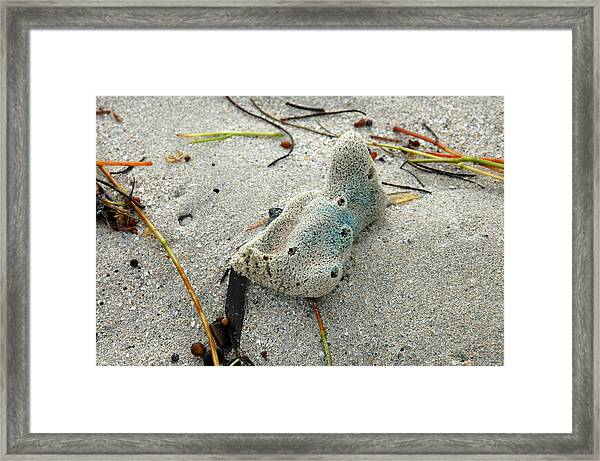Abstract In The Sand - South Beach Framed Print