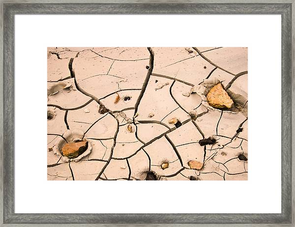 Abstract Mud Flat Pink Saturated Framed Print