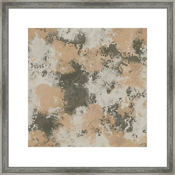 Abstract Mud Puddle Framed Print