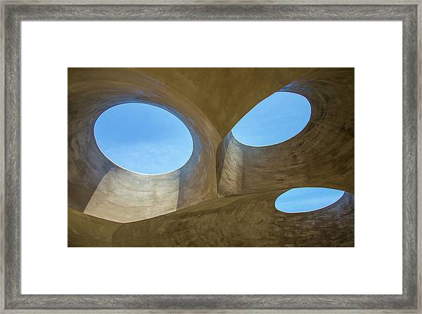 Abstract Of The Roof Framed Print
