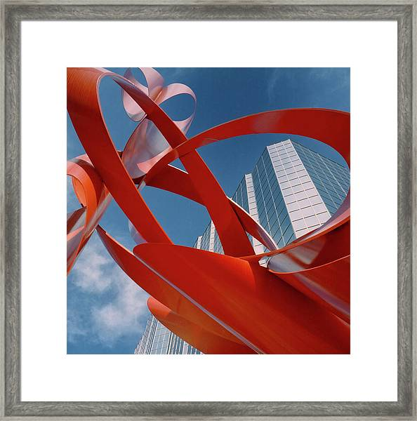 Framed Print featuring the photograph Abstract - Oklahoma City by Samuel M Purvis III
