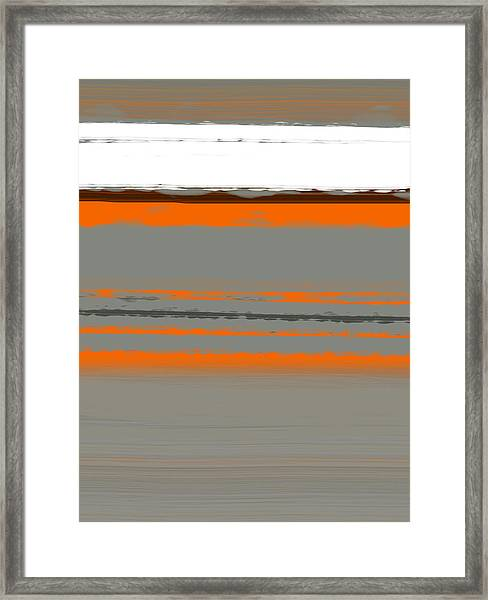 Abstract Orange 2 Framed Print
