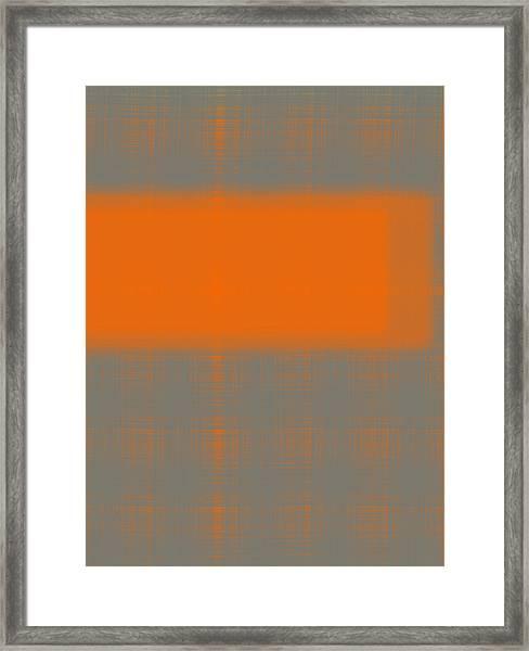 Abstract Orange 3 Framed Print